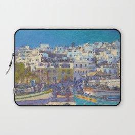 Fisherman's beach Albufeira, Portugal Laptop Sleeve