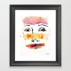 Head Shot #3 Framed Art Print