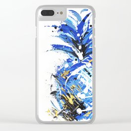 Chase the Blue Pineapple Clear iPhone Case