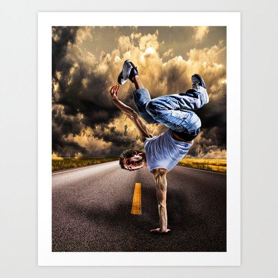 Break dance Art Print