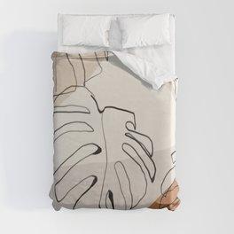 Minimal Abstract Art- Monstera Duvet Cover