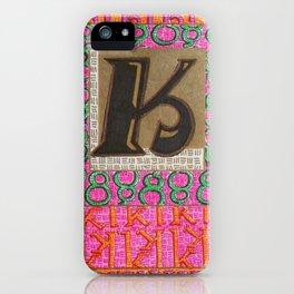 Alpha-Numero: K iPhone Case