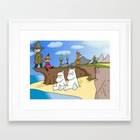 moomin Framed Art Prints featuring The Moomins by Demonology7789