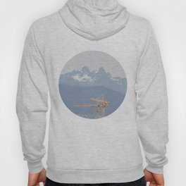 Mountains and cranes Vancouver Hoody