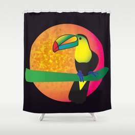 Toucan - Black Shower Curtain