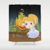 cinderella Shower Curtains featuring Cinderella by 7pk2 online