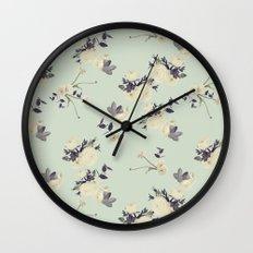 Ranuculus & eucalyptus Wall Clock