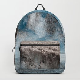 Alaskan Tiers of Exotic Blue Ice Crystals Glacier Backpack