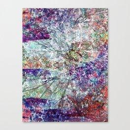 Technicolour Cherry Blossom Canvas Print