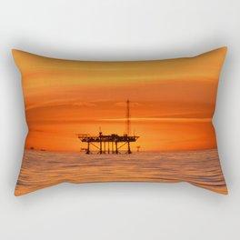 oilfield sunset Rectangular Pillow