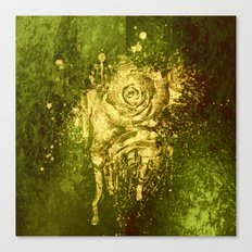 golden rose on green Canvas Print