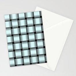 Large Light Cyan Weave Stationery Cards