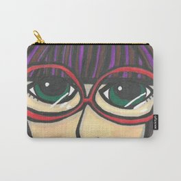 Girl with Glasses Carry-All Pouch