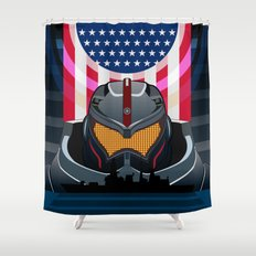 Pacific Rim v2 Shower Curtain