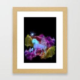 Ghostly Unicorn Framed Art Print