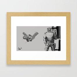 Space Bounty Hunter Framed Art Print