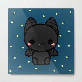 Cute spooky bat Metal Print