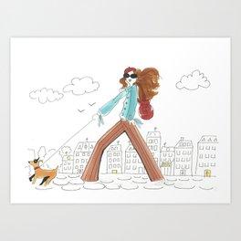 Se Promener / A Stroll Art Print