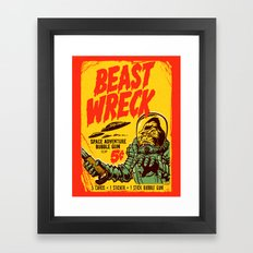 BEASTWRECK ATTACKS! Framed Art Print