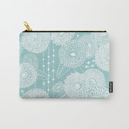 Asters rain in mint green color Carry-All Pouch