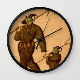 Wild Men Wall Clock