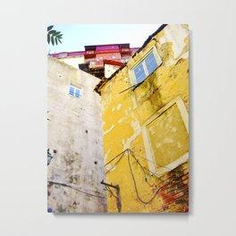 YELLOW HOUSE - URBAN LISBON  Metal Print