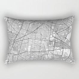 Mexico Map Line Rectangular Pillow