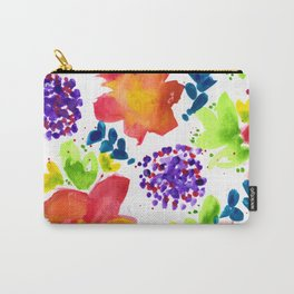 Wildflowers - Cheerful - Botanical Carry-All Pouch