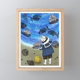 Day on the Beach Framed Mini Art Print