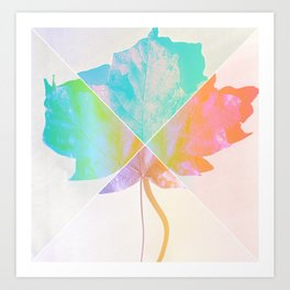 Geometric Leaf Art Print
