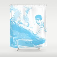 sin city Shower Curtains featuring Lee Sin by Hollow