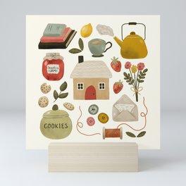 Summer Cottage Days Mini Art Print
