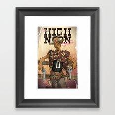 High Noon Hibachi Framed Art Print