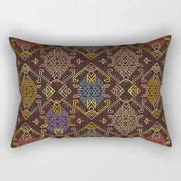 Autumn Tribal Pattern #4 Rectangular Pillow