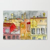 italian Canvas Prints featuring Italian Street by Bunny Noir