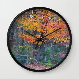 Autumn Trail at Lums Wall Clock