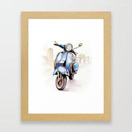 Azzurro Vespa (Motocicletalia) Framed Art Print