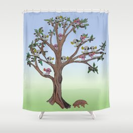 The Echidna, a Gum Tree and all the cockatoos Shower Curtain
