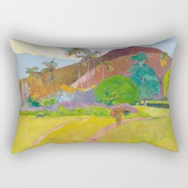 Tahitian Landscape by Paul Gauguin Rectangular Pillow