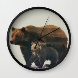 Grizzly & Cub Wall Clock