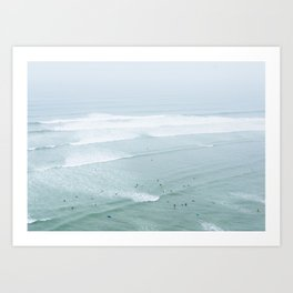 Tiny Surfers from the Sky 4, Lima, Peru Art Print