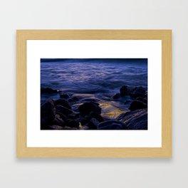Waves Breaking at Sunrise Framed Art Print