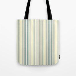 Seafoam Green Yellow Stripes Tote Bag