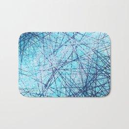 World Wide Web White & Blue Bath Mat