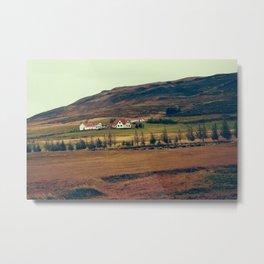 Lava Field House Metal Print
