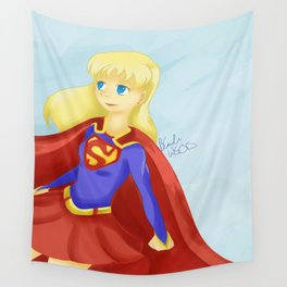 Super Girl Wall Tapestry