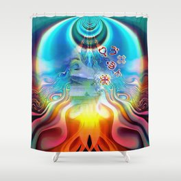6 Language of Light Base Chakra Symbols Shower Curtain