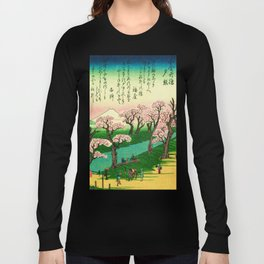 Evening Glow at Koganei Bridge Long Sleeve T-shirt