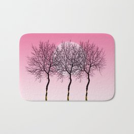Triplet trees in pink Bath Mat