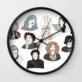 Wigs Wall Clock